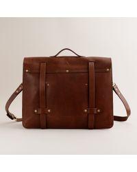 J.Crew Montague Leather Satchel brown - Lyst