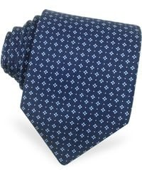 Moreschi - Mini Flowers and Dots Printed Silk Tie - Lyst