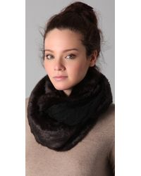 74e87f8f81 Hot Juicy Couture - Middlebury Fur   Knit Loop Scarf - Lyst