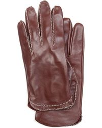 Mango Touch - Leather Gloves Zigzag - Lyst