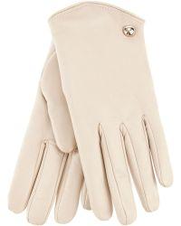 Patrizia Pepe | Cream Rabbit Fur Gloves | Lyst