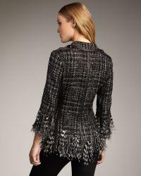 Royal Underground - Leather-trim Boucle Jacket - Lyst