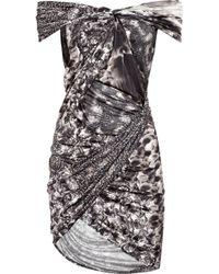 Aminaka Wilmont - Twisted Silk-chiffon Dress - Lyst