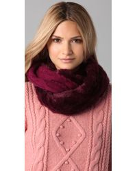 Juicy Couture - Middlebury Fur & Knit Loop Scarf - Lyst