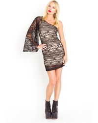 Nasty Gal Lace Flare Dress - Lyst