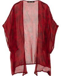 Winter Kate - Ginger Printed Silk-Georgette Jacket - Lyst