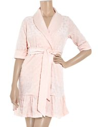 7049211e79 Juicy Couture - Heart-embossed Velour Robe - Lyst