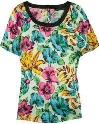 Marc By Marc Jacobs Havana Printed Silk-satin Top - Lyst