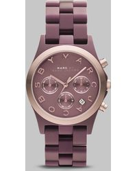 Marc By Marc Jacobs Rose Gold Ion-plated Chronograph Watch - Lyst