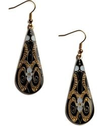 ModCloth In with The Nouveau Earrings gold - Lyst