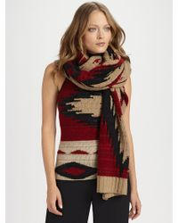 Ralph Lauren Blue Label - Shea Beacon Cashmere Scarf - Lyst