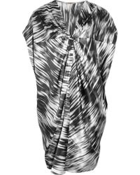 Thurley Printed Silk-satin Tunic Dress - Lyst