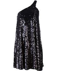 Halston Heritage Sequin Tent Dress black - Lyst