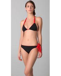 3.1 Phillip Lim - Ribbon-tie Triangle Bikini Top - Lyst