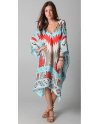6aabf2e8587a Malaga Scarf Dress - Purple Multi.  295 Sold out. Shopbop · Theodora    Callum - Escape Sedona Print Caftan - Lyst