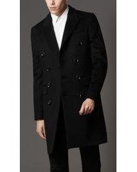 Burberry Felted Wool Topcoat - Lyst