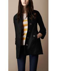 Burberry Brit - Textured Cotton Swing Coat - Lyst