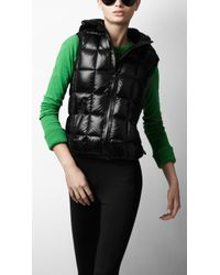 Burberry Sport - Glossy Hooded Puffer Vest - Lyst