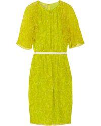 Giambattista Valli Printed Silk-georgette Dress - Lyst