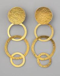 Herve Van Der Straeten Disc & Open Circle Clip Earrings - Lyst