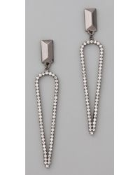 Made Her Think - Stud Pointed Tears Earrings - Lyst