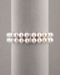 Assael - Pearl & Diamond Bracelet - Lyst