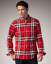 Burberry Brit - Check Button-down Sport Shirt - Lyst