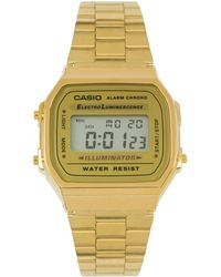 Casio A168Wg-9Ef Gold Plated Digital Watch - Lyst
