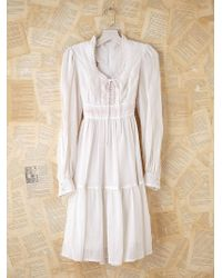 Free People Vintage Cropped Gunne Sax Voile Dress - Lyst