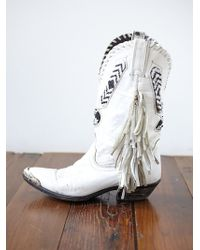 Free People Vintage Steeltip Beaded Boots - Lyst