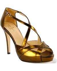 Kate Spade Get - Leather Platform Strappy Sandal - Lyst