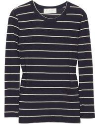 A.L.C. Travis Striped Cotton-jersey Top - Lyst
