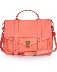 Proenza Schouler Ps1 Large Leather Satchel pink - Lyst