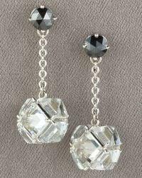 Paolo Costagli - Black Diamond & White Topaz Dangle Earrings - Lyst