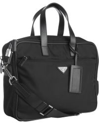 773a20aaf529 ... where can i buy prada black nylon laptop travel bag lyst bf67a c325a