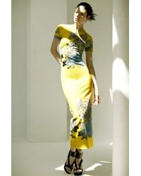 Preen By Thornton Bregazzi Scuba Long Dress - Lyst