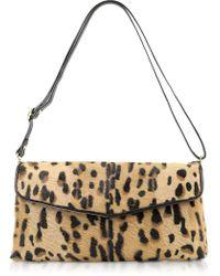 Fontanelli Calfhair Leopard Print Shoulder Bag - Lyst