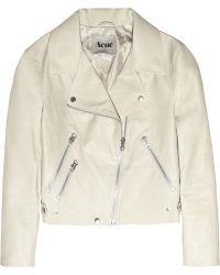 Acne Studios Rita Leather Aviator Jacket - Lyst