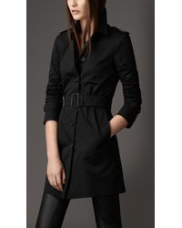 Burberry Leather Martingale Trench Coat - Lyst