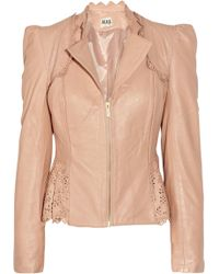 Alice By Temperley Libre Laser-cut Leather Jacket - Lyst