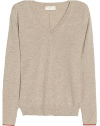 Chinti & Parker Contrast-elbow Cashmere Sweater - Lyst