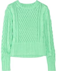Acne Studios Lia Cable-knit Cotton Sweater - Lyst