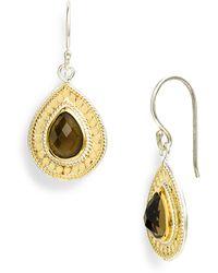 Anna Beck Gili Small Stone Teardrop Earrings - Lyst