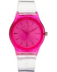 ASOS - Asos Neon Pink Plastic Watch - Lyst