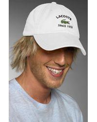 Lacoste Baseball Cap - Lyst