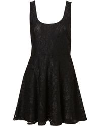 Topshop Lace Flippy Tunic - Lyst