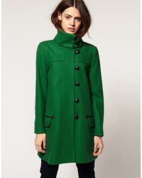 ASOS Collection Coat With Fold Over Collar - Lyst
