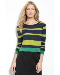 BCBGMAXAZRIA Isla Stripe Crop Sweater - Lyst