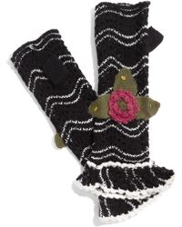 Betsey Johnson Pretty Floral Fingerless Gloves - Lyst
