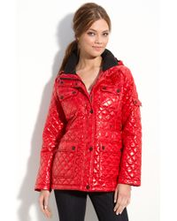 Calvin Klein Quilted Jacket with Detachable Hood - Lyst